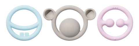 Nigi, Nagi & Nogi Tactile Teething Rings (0+), MOLUK - Little Llama