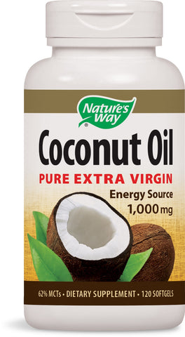 Coconut Oil Pure Extra Virgin 1,000 mgs, Softgels, 120 ea.