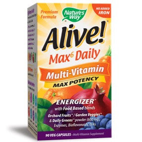Alive! Max Potency Multi-Vitamin No Iron / 90 Veg Caps
