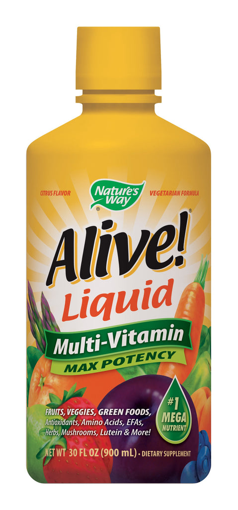 Nature's Way Alive! Max Potency Liquid Multi-Vitamin, 30 Ounce
