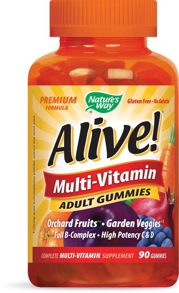 Nature's Way Alive! Adult Multi-Vitamin Gummies, 90 Count