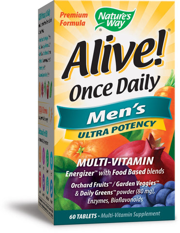 Nature's Way Alive! Once Daily Men's Multi Ultra Potency 60 Tablets
