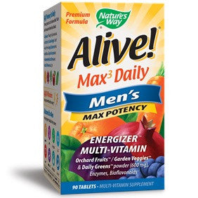 Alive! Max Potency Men's Multi-Vitamins / 90 Tabs