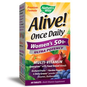 Alive! Once Daily Women's 50+ Multi Ultra Potency, 60 Tablets