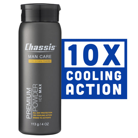 Chassis® Premium Powder Ice Max, 10x the cooling action