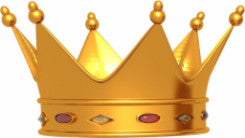 Gold crown with jewels signifying King Power Boards.