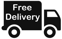 Drawing of truck with Free Delivery written on the side.