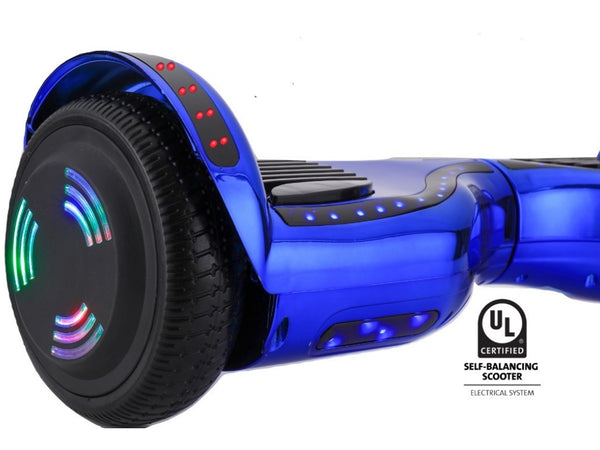 ProZip Stealth Self Balancing Hoverboard Scooter with GPS, APP, Auto Level, Bluetooth UL2272 Chrome Blue