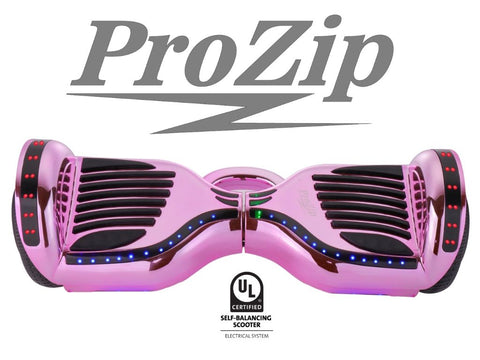 ProZip Stealth Self Balancing Hoverboard Scooter with GPS, APP, Auto Level, Bluetooth UL2272 Chrome Pink