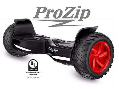 "ProZip ""Hummer"" UL2272 Off Road With GPS, APP, AutoLevel, Bluetooth, Canada's Best All Terrain Hoverboard Scooter Red Hubs"