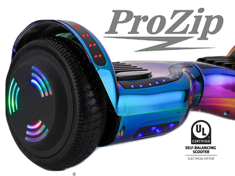 ProZip Stealth Self Balancing Hoverboard Scooter with GPS, APP, Auto Level, Bluetooth UL2272 Chrome RB