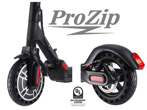 "ProZip ""Edge"" UL2272 Commuting Electric Scooter 30Km/h Top Speed, LCD Display, App, Phone Charge Port, Dual Brakes, Bluetooth, Canada's Best Scooter"