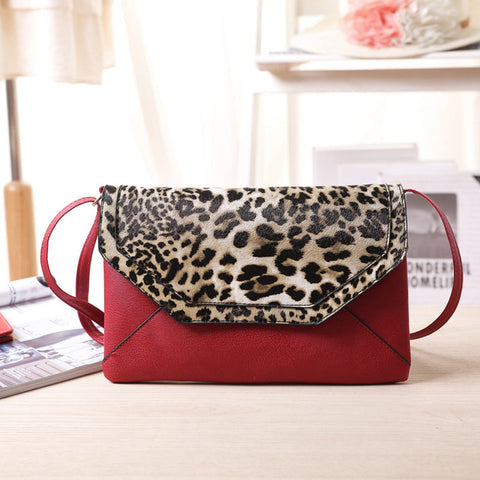 2016 Luxury Designer Evening Bags Leopard Pattern Women Bags Red Black Women Leather Handbags Female Classic Cover Party Bag - JCBling Prime