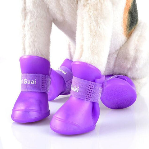 Waterproof Pet Rain Shoes Booties Dog Shoes Portable