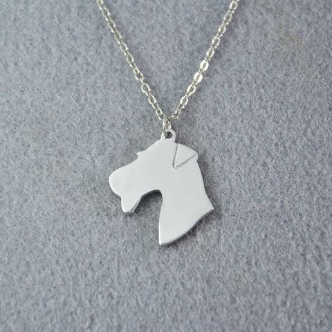 Airedale Terrier Charm necklace, dog jewelry, Alloy