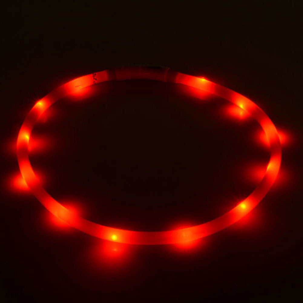 USB charging Cat dog collar Night Flashing Light Collar