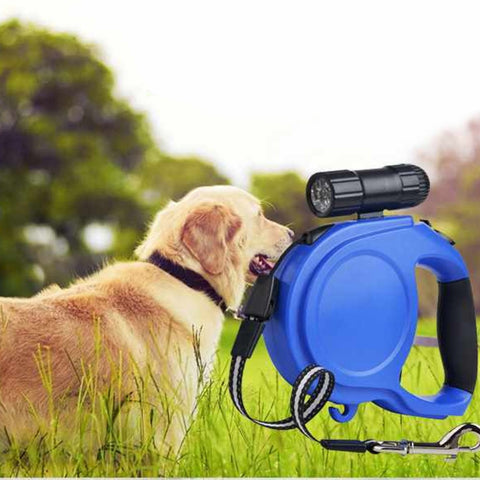 Automatic Retractable Led Dog Collar Traction Leash