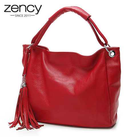 11cls Italian Soft Genuine Leather Tassel Women's Handbag Tote - JCBling Prime
