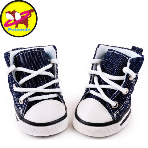 Blue Puppy Pet Dog Denim Shoes, For Chihuahua