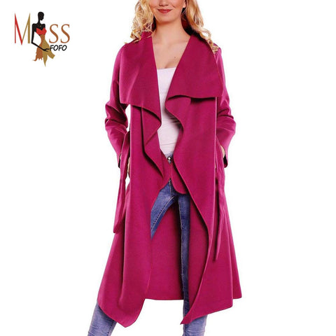 Trench Coat long Outerwear loose clothes for lady good