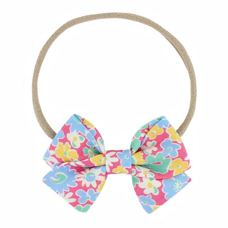 Classic Mini Bow - Bright Summer Floral