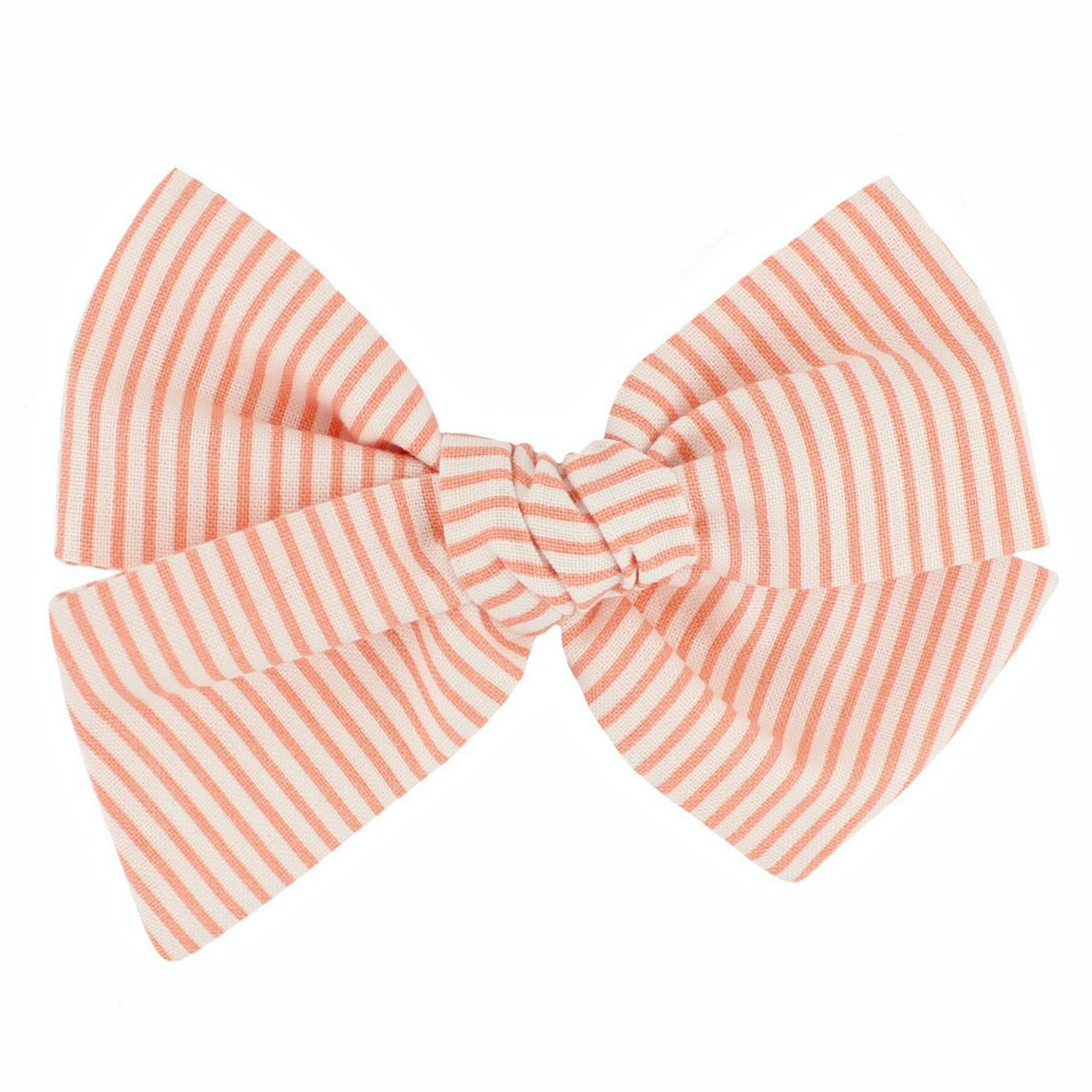 Oversized Pixie Bow - Creamsicle Stripes