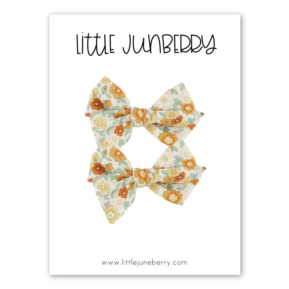 Petite Pixie Pigtail Set - Golden Fall Floral