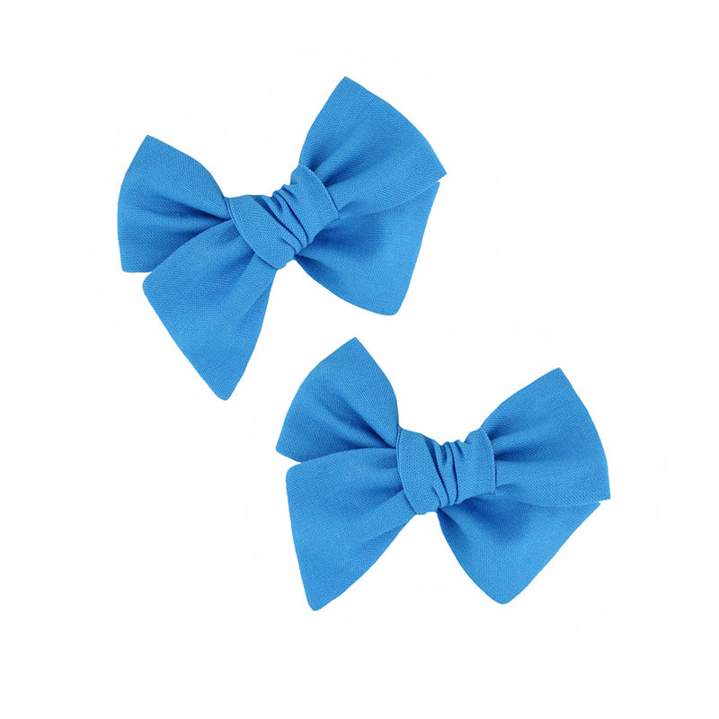 Pixie Bow Pigtails - Paris Blue