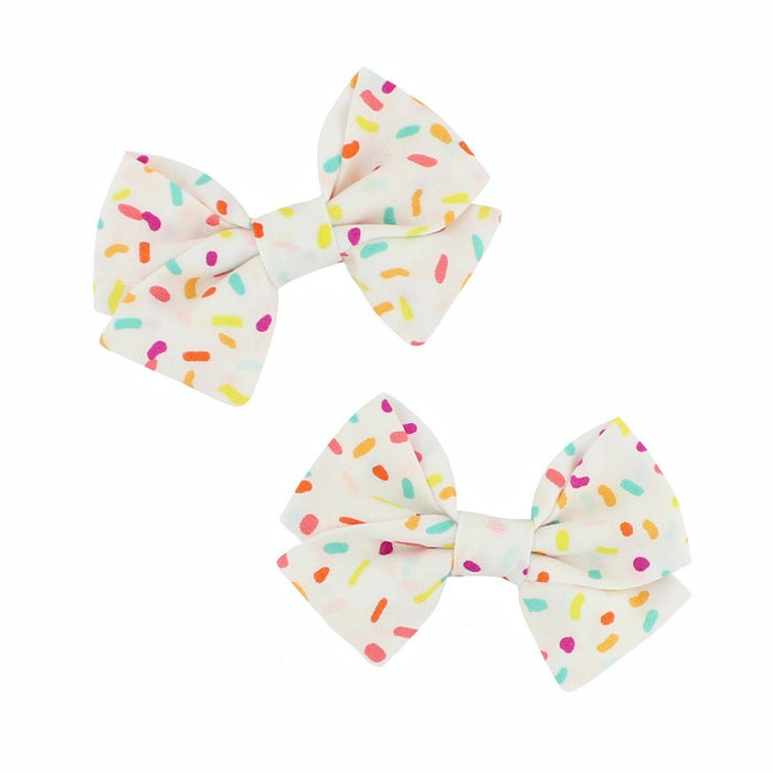 Classic Mini Bow Pigtail Set - Sprinkles
