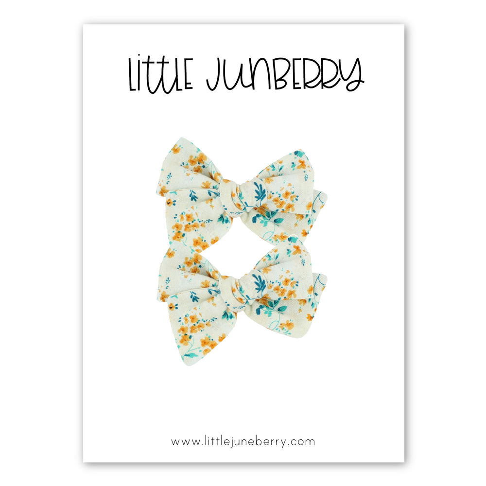 Petite Pixie Pigtail Set - Early Autumn Floral