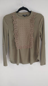 Olive Lace Long Sleeve