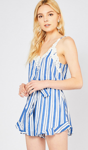 Sailor Blue Romper