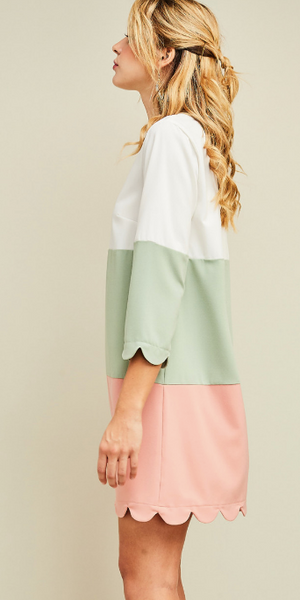 Watermelon Color Block Dress