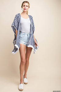 Raw Hooded Fringe Trim Outer