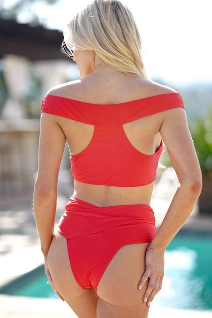 Red Wrap Swim