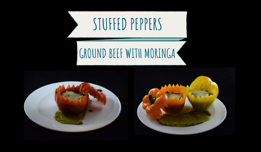 Stuffed Peppers with Ground Beef & Moringa