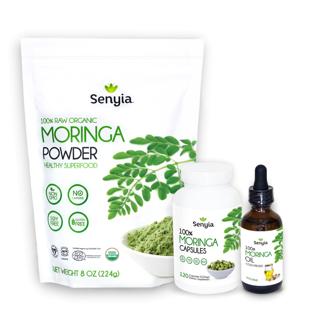 Senyia Moringa Bundle - Powder + Capsules + Oil