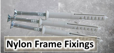Nylon Frame Fixing, Window frame fixing, Door Frame Screws.