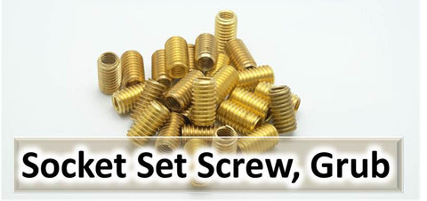 Socket Screws, Socket Set Screw, Grub Screw, Fully threaded, UNF, UNC, BSW, Whitworth, BA, Metric, Metric Fine, Imperial, Allen Key Socket, Hex Key Socket