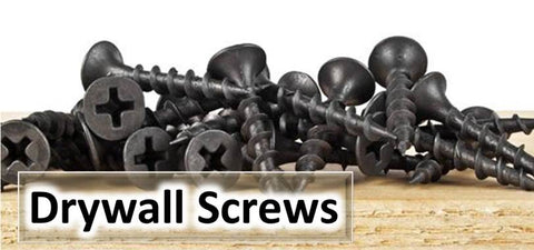 Drywall screws, Plasterboard screws, Black Screw, Coarse thread, timber fixing, Fine, Metal Studding frame fixing.
