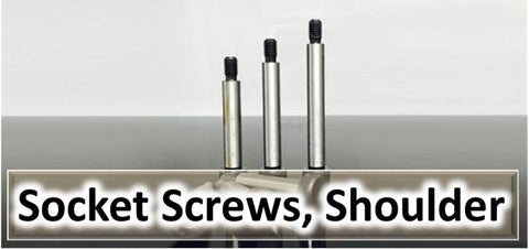 Socket Screws, Shoulder, Cap Head, Partially threaded, Plain Shank, UNF, UNC, BSW, Whitworth, BA, Metric, Metric Fine, Imperial, Allen Key Socket, Hex Key Socket