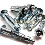 Brolly Plug Fixings, Metal, Heavy Duty Plasterboard/ Drywall Cavity Wall Anchors - Fixaball