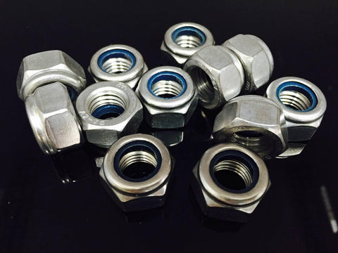 M10 - M24, Nyloc Nut, A2 Stainless.