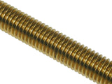 Metric Solid Brass Studding/ Threaded Bar - M4 M5 M6 M8 M10 M12