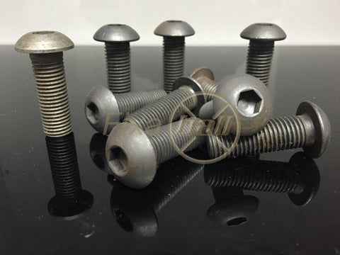 M6, Button, Socket Screw (10.9), Self-Colour/ Black.