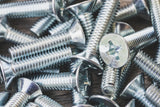 M6, Machine Screws, Pozi, CSK, Zinc (BZP).