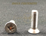 M4, Machine Screws, Pozi, CSK, A2 Stainless. - Fixaball