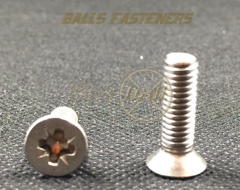 M4, Machine Screws, Pozi, CSK, A2 Stainless.
