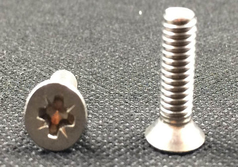 M6, Machine Screws, Pozi, CSK, A2 Stainless.