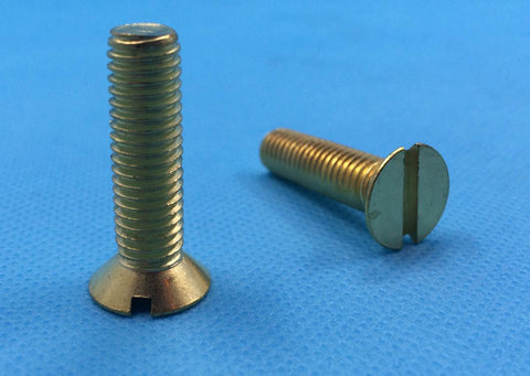 M2.5 Machine Screws, Slotted, Countersink, Brass.